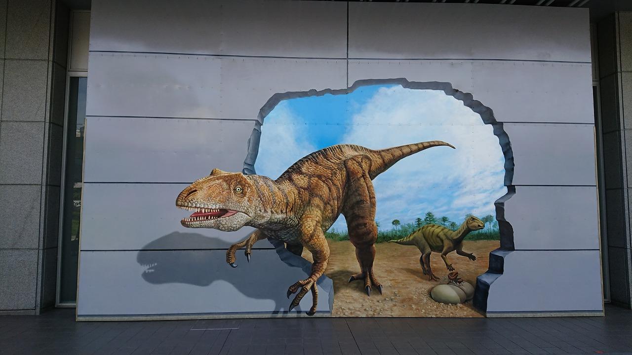 福井駅前の恐竜を見に行ってみた