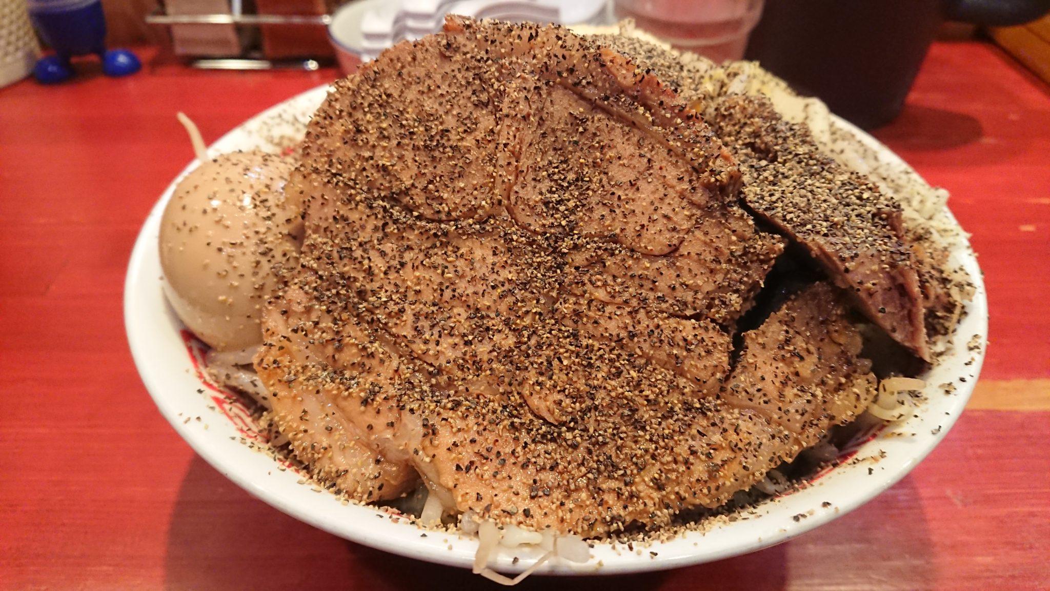 福井県の二郎系らーめんゴリラ屋を4ヵ月ぶりに訪問し、念願の『汁なしBP増し』を食べてきた